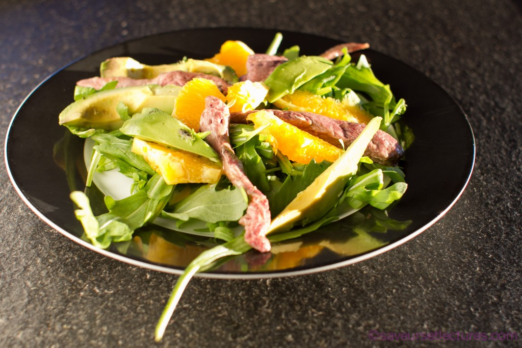 salade orange avocat aiguillette de canard